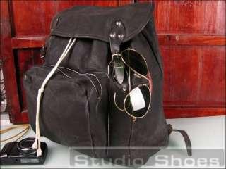 Vintage New York Framed Leather Travel Norway Euro Backpack Bag