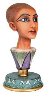 Egyptian Young King Tut Emerging Head Bust Figurine