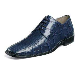 Stacy Adams Jaxon Mens Leather Dress Shoes Blue 24414