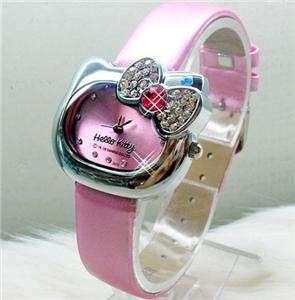 5PCS HELLOKITTY Crystal Stone Watch Quartz Wristwatches