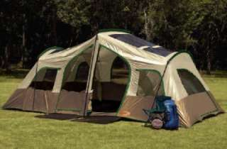 New 8 Man Person 3 Room Family Camping Dome Tent 19x9