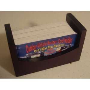 WOOD LARGE BUSINESS CARD HOLDERS Holds up to 80 Cards