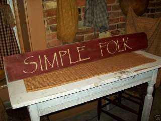 LARGE PRIMITIVE WOODEN SIGN SIMPLE FOLK OLD FARM WOOD