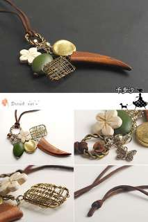 1X Women lady fashion wooden angel wings necklace gifts