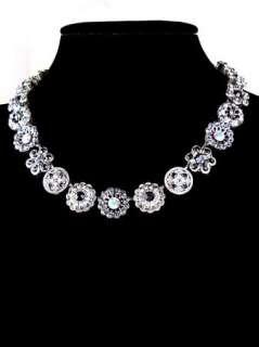 Handmade Swarovski Crystal Flower Necklace FREE US SHIP 3138 3701