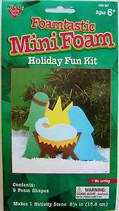 Nicole Crafts Foam Christmas Kit   Nativity Scene
