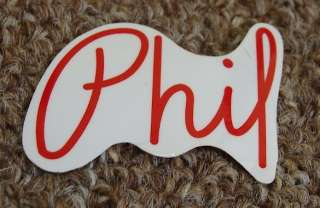 Phil Wood Phil logo sticker decal   track fixed gear singlespeed