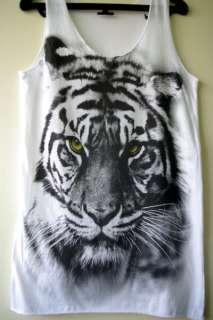 Tiger Animal 80s New Wave Punk Rock Wolf Tank T Shirt