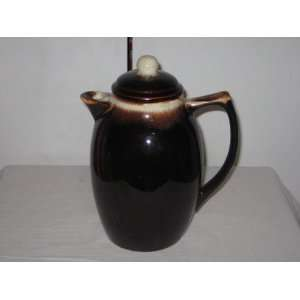 Pottery Mirror Brown Drip Coffee Pot w/ Lid Everything Else