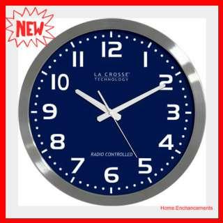 La Crosse 16 Atomic Wall Clock WT 3161BL ,Lacrosse 3161BL