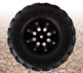 MUD Rock BEADLOCK WHEELS AX10 WHEELY KING CR 01 Black(4)