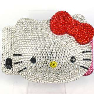 iPhone4 Pink Hello Kitty Mirror 3D Swarovski Bling Hard Case iPhone