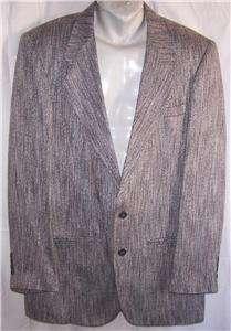 40L Cellini BLACK SILVER BLUE GREEN PINK TWEED sport coat suit blazer