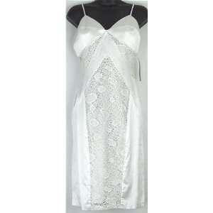 BERGAMO BGMO White Silk Cocktail Dress Size 2 XS BGMO