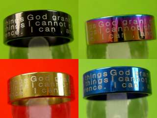 Stainless steel rings wholesale lots God Grant me the