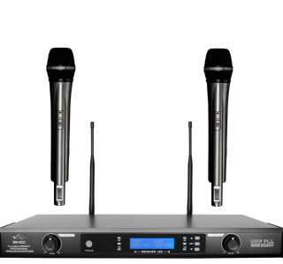 Dual Channel 64 Selectable Frequency Wireless Microphone System
