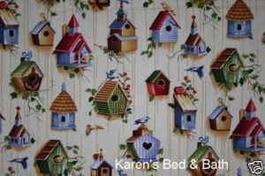 Country Birdhouse Bird Wood Cabin Lodge Valance NEW