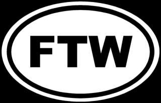 FTW Sticker For The Win Racing Vinyl Decal Car JDM Euro