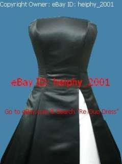 80C Burgundy Red Blue Black Party Prom Bridesmaid Dress Plus Size 18