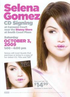 SELENA GOMEZ*SIGNED*CD*KISS & TELL*+BONUS DVD*PROOF