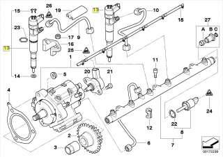 BMW Series 7 E38 M57 Diesel Fuel Injector Valve 7785437