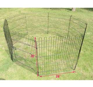 30 heavy duty 8panel Pet Dog Cat Play Exercise Pen Playpen fence