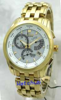 CITIZEN ECO DRIVE GOLDTONE 330FT SAPPHIRE CRYSTAL WATCH