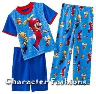 SUPER MARIO BROS. Wii Pajamas pjs Size 4 6 8 10 12 Shirt Pants Shorts