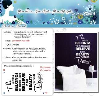 The Future Belongs To Wall Quotes Decor, Wall Stickers, Wall Decals
