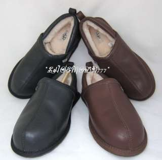 Sheldon Mens Slippers Shoes Leather Sheepskin US 8 9 10 UK 7 8 9
