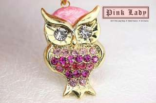 This is the Cute Big Crystal Owl Charms Pendant Wholesale (3pcs)