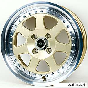 ROTA J MAG 16X7 4X100 ET40 67.1 ROYAL GOLD RIM WHEELS