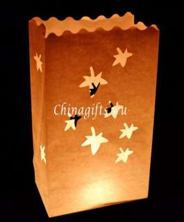 white paper candle lantern bags optional styles&quantites wedding