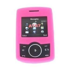Samsung Propel A767 Trans. Pink Silicon Skin Case Office