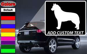 Siberian Husky Dog Wall Car Vinyl Decal Sticker