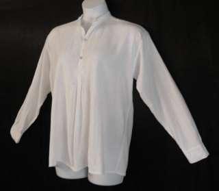 White Cotton Poet Renaissance Shirt Mens Medium or Womens 14 16