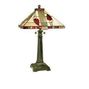 Dale Tiffany 2721/739 Henderson Table Lamp, Antique Bronze
