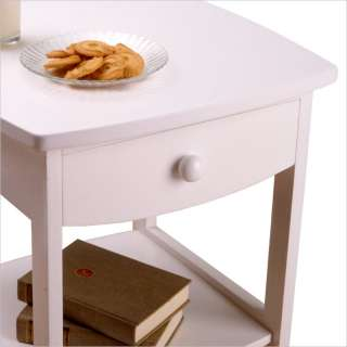 winsome basics solid wood end table nightstand in white 9010 the