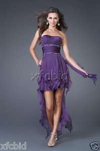 Prom Gowns Party Dress Evening Cocktail dress*purple