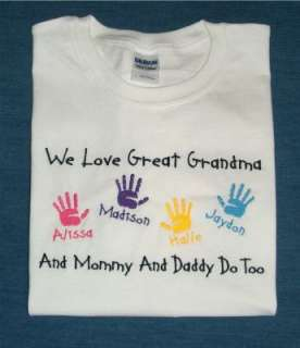 Personalized MOTHER MOMMY MOM GRANDMA Kids Names Shirt