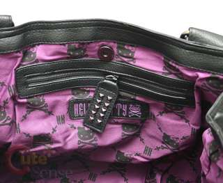 Sanrio Hello Kitty Angry Kitty Tweed Leather Hand Bag Loungefly 6