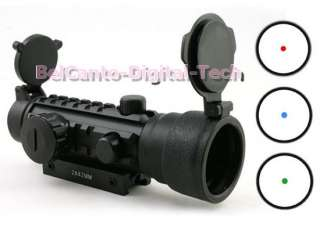 Walther Style 2x42 Red Green Blue Dot Tri Rail Scope