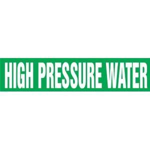 HIGH PRESSURE WATER   Cling Tite Pipe Markers   outside diameter 2 1/4