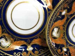 1880S TRIO COALPORT COBALT VICTORIANS TEA CUP AND SAUCER DUO
