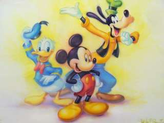 Tom duBois Mickey Mouse and Friends  Original Pastel Sketch.