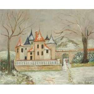 Maurice Utrillo   32 x 26 inches   The small castle in the snow