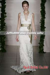 Sheath V neckline Cheap Bridal WEDDING Dresses/Gown HOT