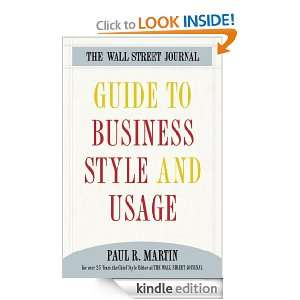 The Wall Street Journal Guide to Business Style and Us (Wall Street