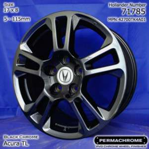 ACURA TL 17 PVD BLACK CHROME WHEEL RIM  SINGLE
