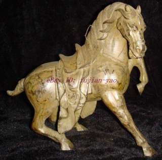 Chinese Bronze Tang Style War Horse Statue
